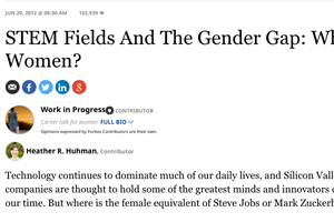 STEM Fields And The Gender Gap: Where Are The Women?
